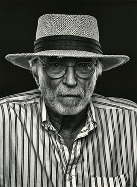 Professor Emeritus Ed Pramuk in hat