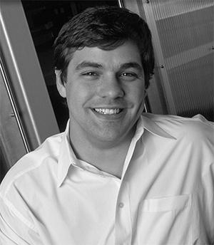 Paul Russell headshot, black and white