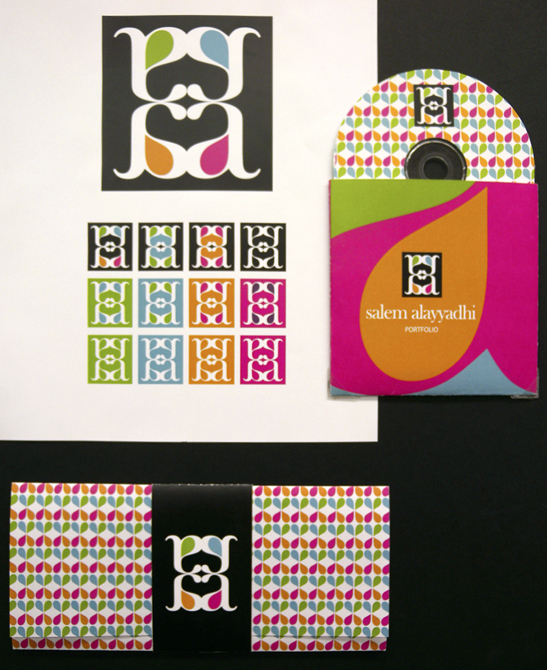 Repeating colorful geometric pattern, LSU BFA Studio Art Graphic Design