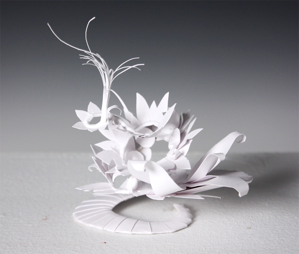 Paper flower sculpture, LSU BFA Studio Art Foundations