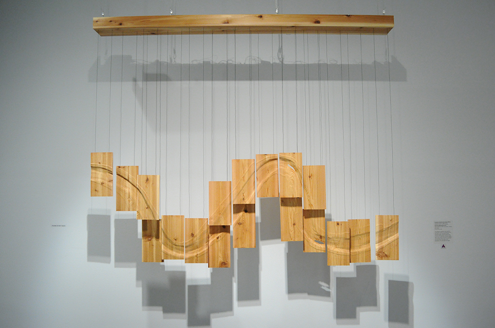 hanging art installation, lsu art faculty work