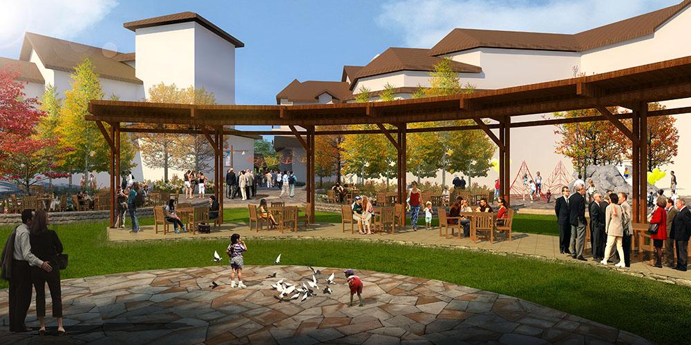 Rendering outdoor scene, lsu landscape architecture work