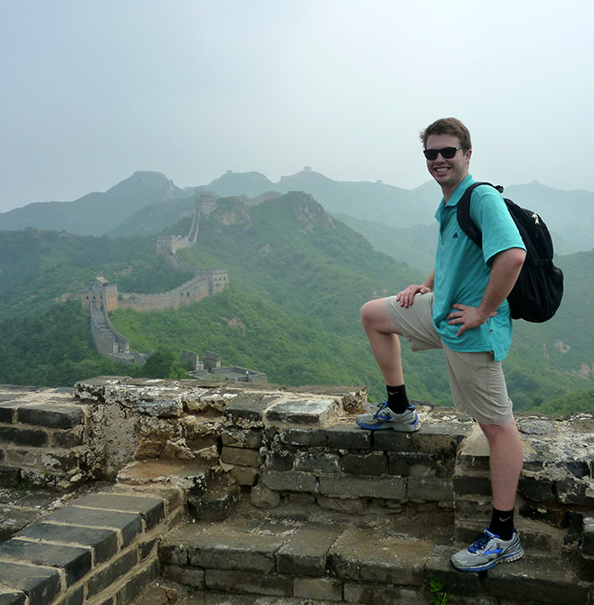 young man on Great Wall