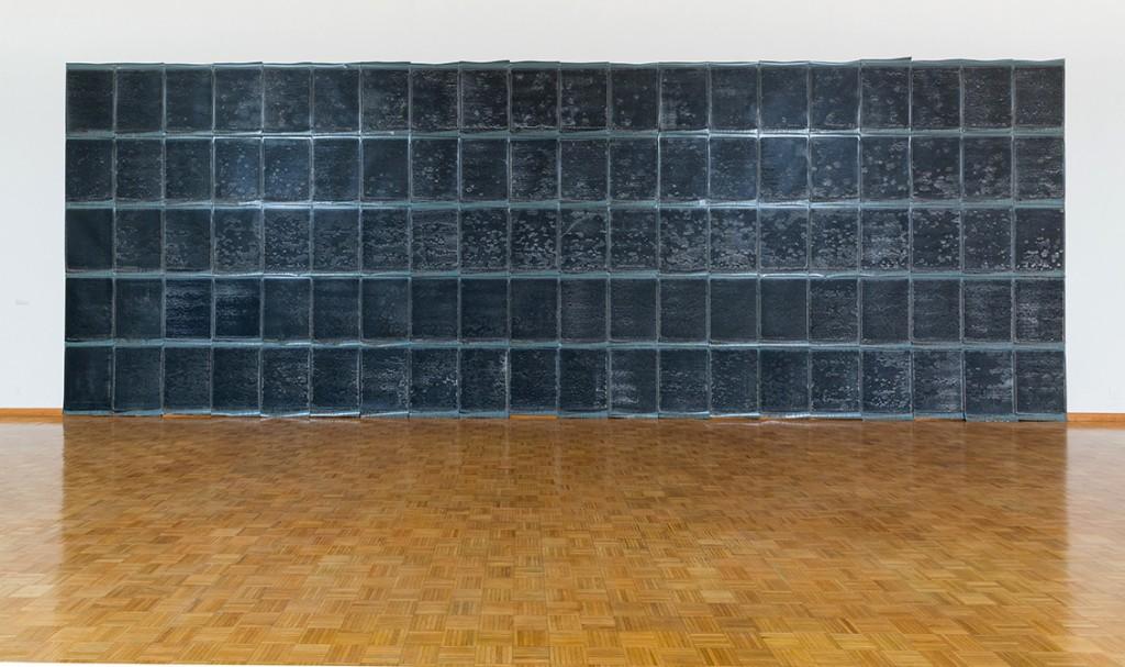 dark wall installation, lsu art faculty exhibition