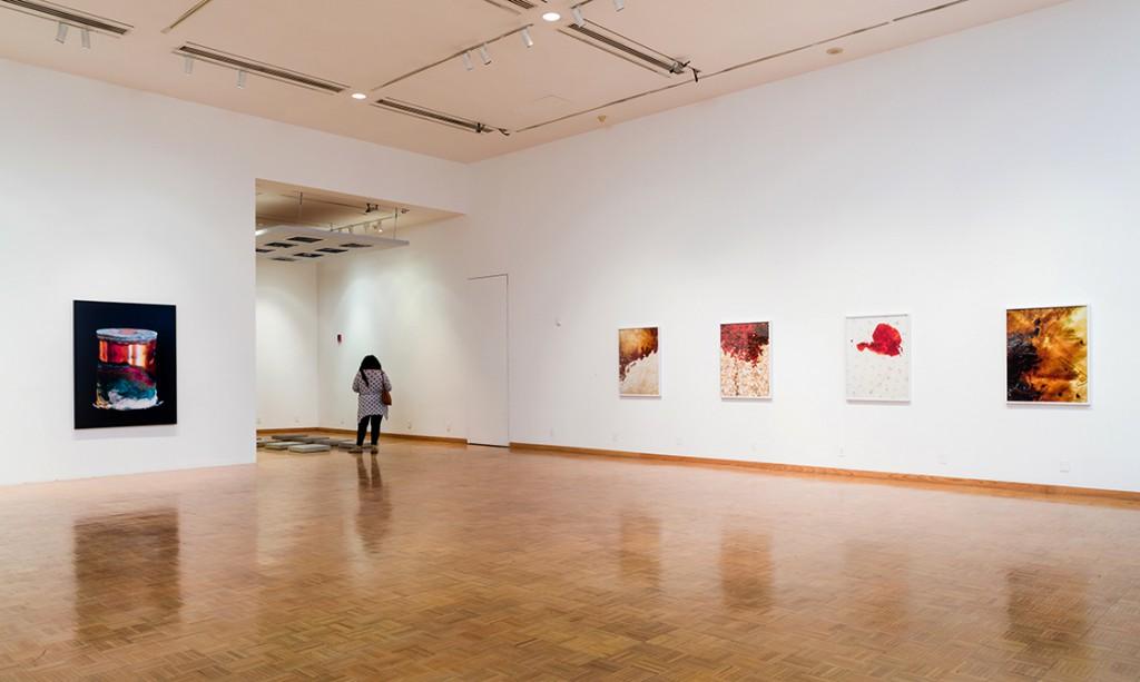 museum room, lsu art faculty exhibition