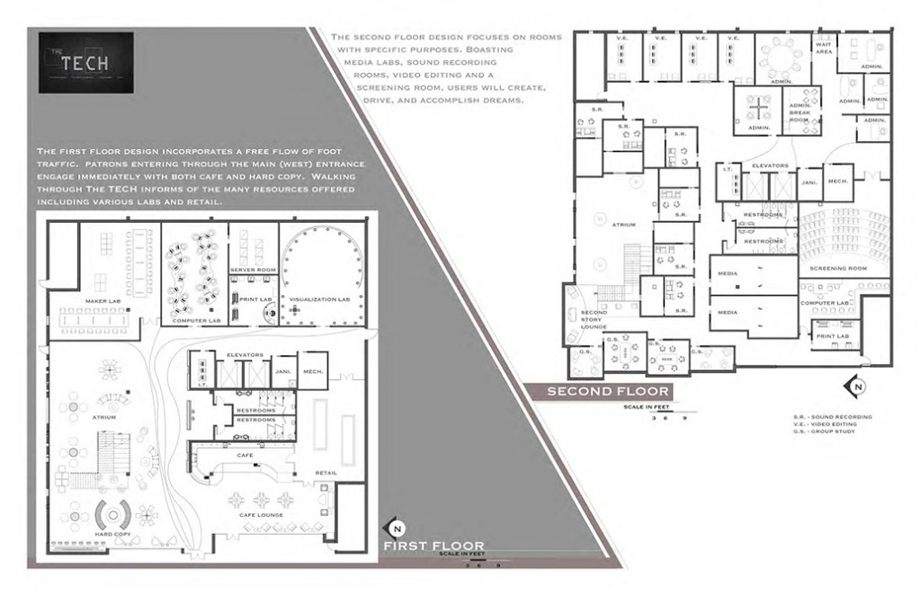 Floorplans, lsu interior design student work