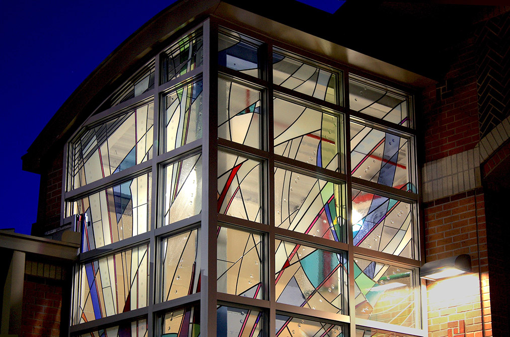 stained glass window exterior