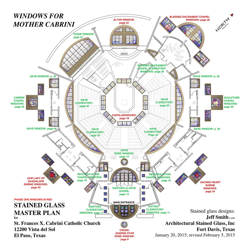 Master Plan for St. Frances X. Cabrini Catholic Church in El Paso, Texas