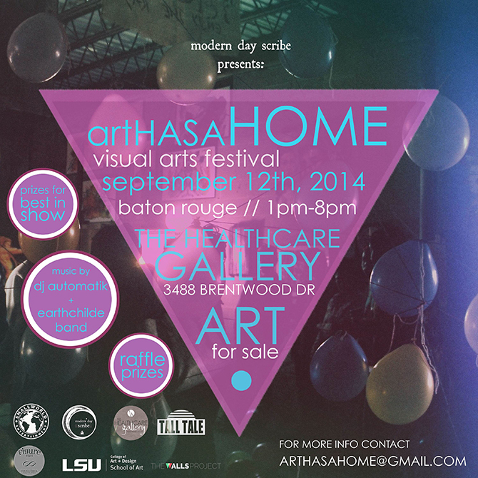 Graphic advertising Art Has a Home festival