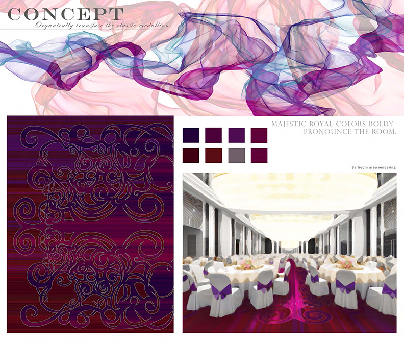 Ballroom colors concept, lsu interior design student work