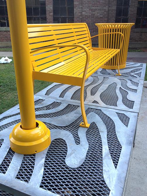 yellow bench by nari ward