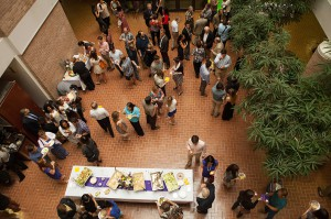 lsu college art and design scholarship reception crowd