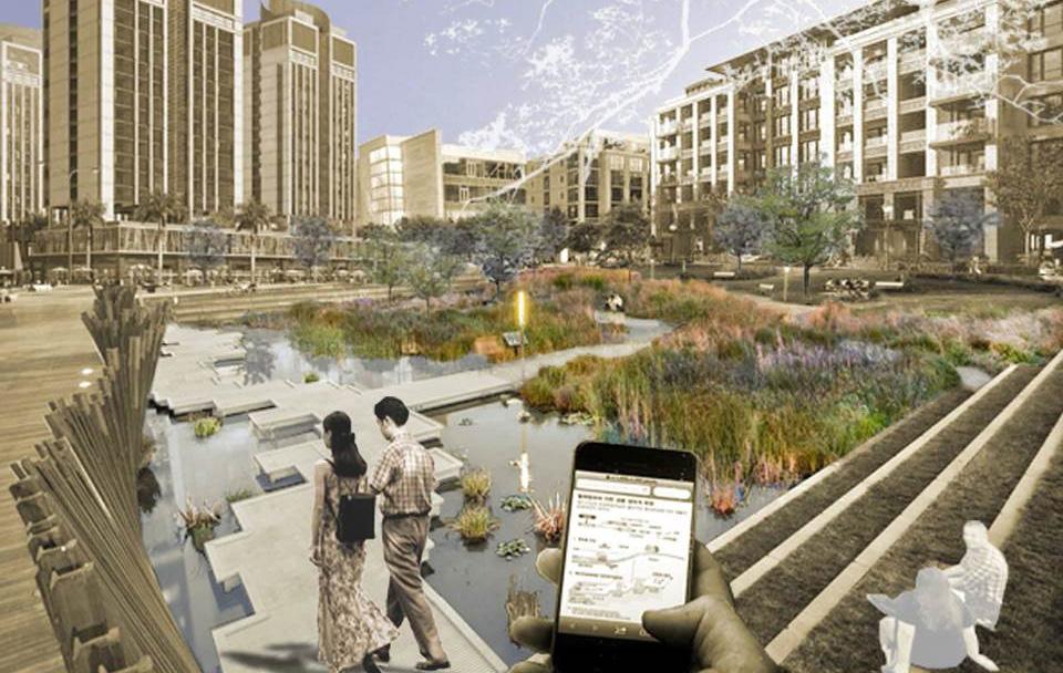 city garden rendering