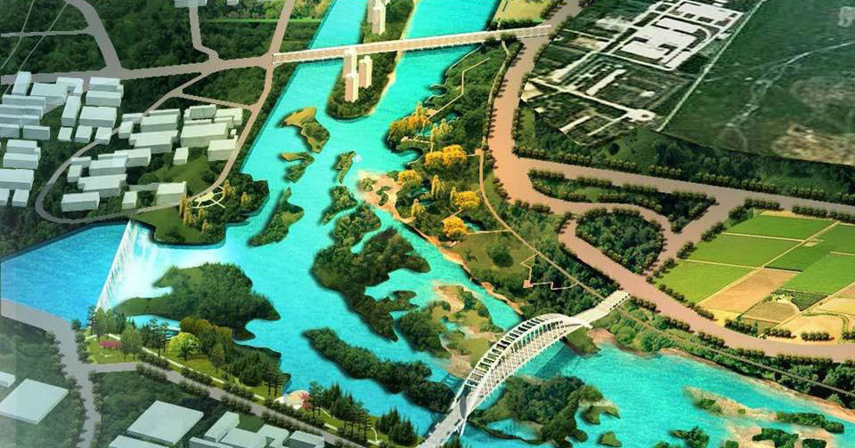 XinJin Baihetan National Wetland Park rendering
