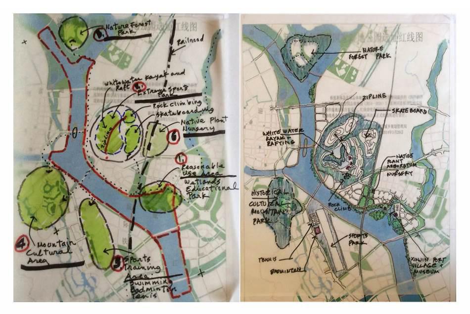 XinJin Baihetan National Wetland Park map