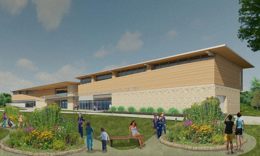 center rendering, lsu architecture alumni work