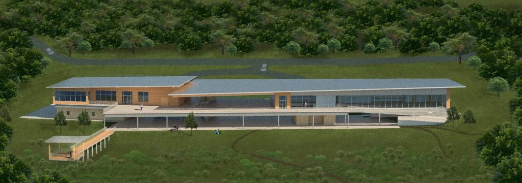 building rendering, lsu architecture alumni work