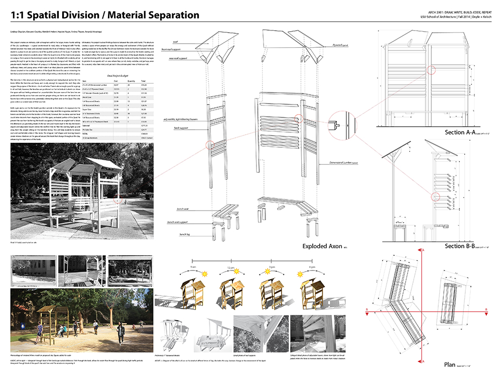 PROJECT 1:1  Architecture Students Design and Fabricate a