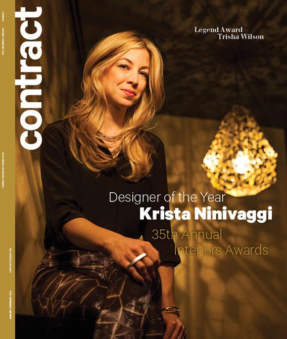 Cover of Contract magazine featuring Krista Ninivaggi