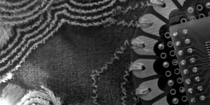 Closeup textured cloth