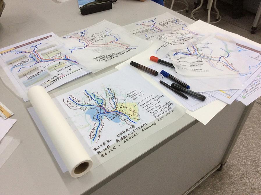 sketches of XinJin Baihetan National Wetland Park