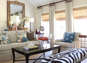 Fashionable living room interior; lsu interior design alumni work