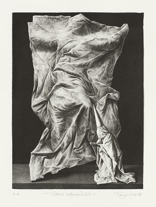 wrinkled sheet over body