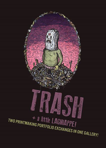 Graphic advertising Trash