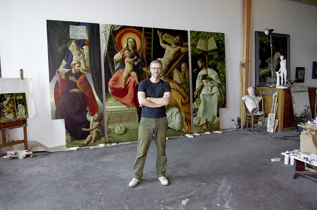 michael triegel in art studio
