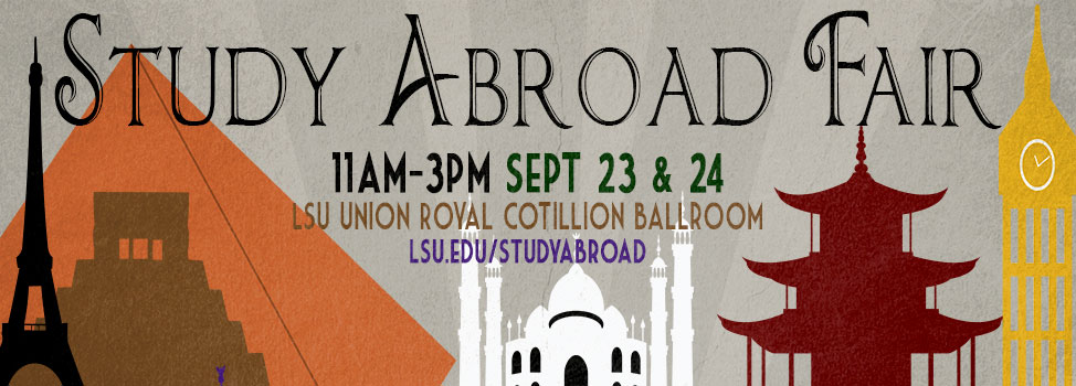 Graphic advertising the study abroad fair