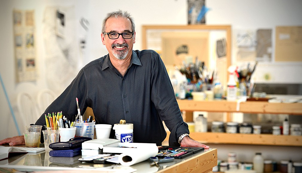 Carmon Colangelo, NOW: Colangelo is dean of the Sam Fox School of Design & Visual Arts and the E. Desmond Lee Professor for Collaboration in the Arts.