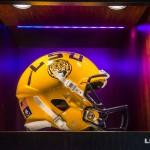 yellow LSU helmet