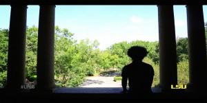 Dasjon Jordan overlooking the LSU Quad