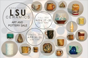 Graphic advertising LSU ceramics sale