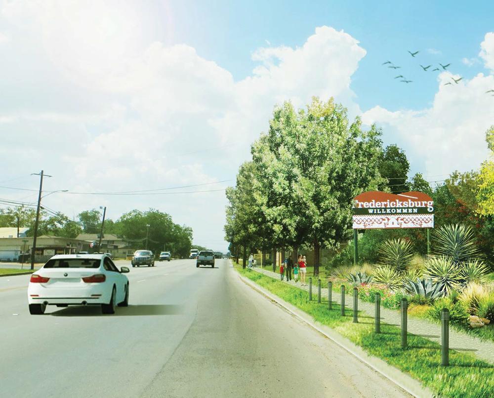 Fredericksburg welcome sign