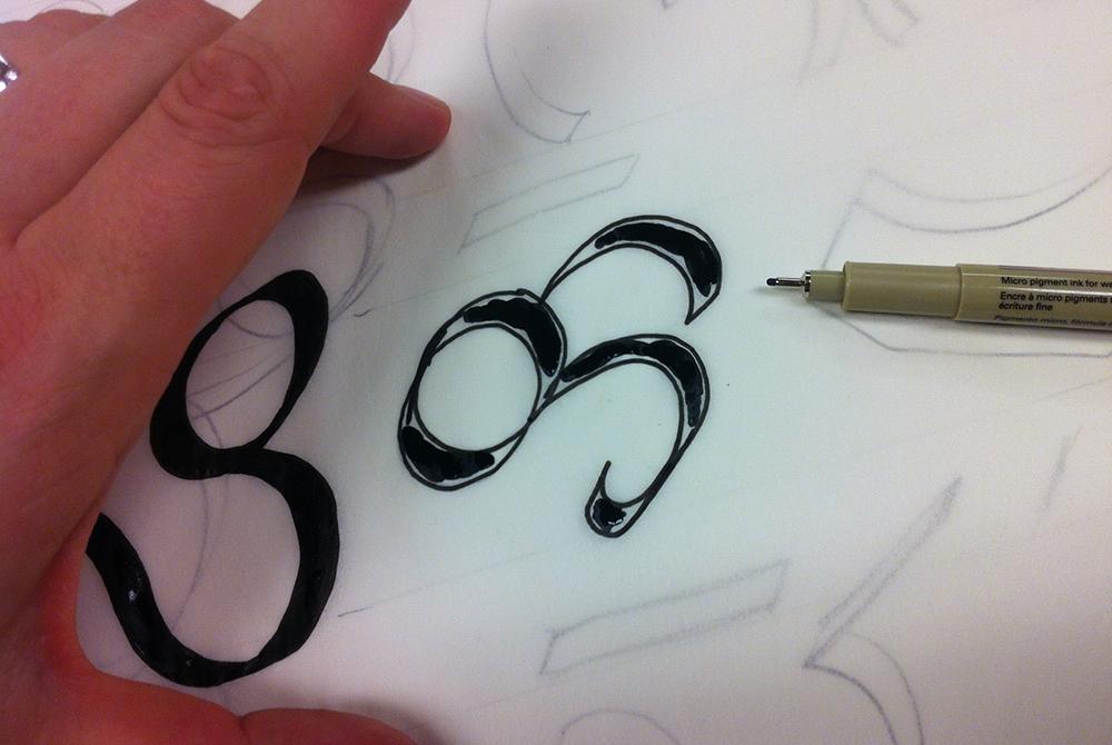 lettering closeup