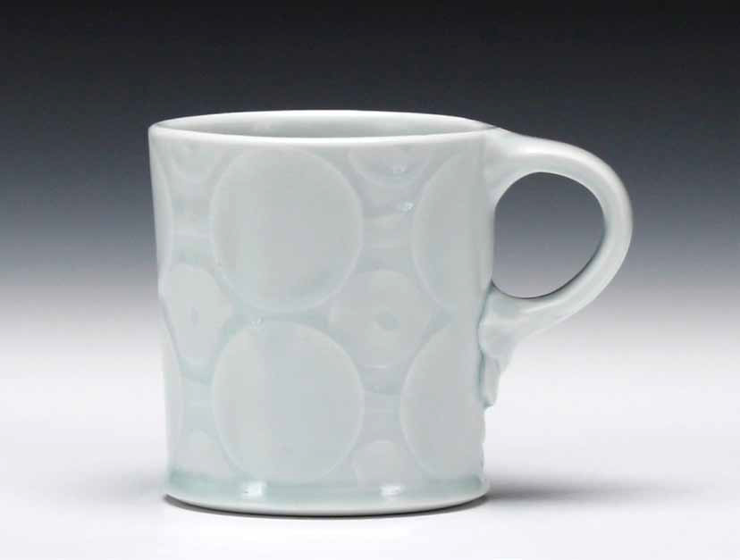 A mug in Andy Shaw's Tableware series