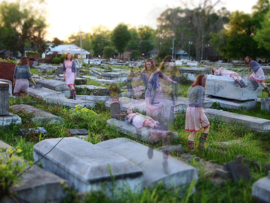 Relaxing with the Dead, Time Lapse Photography, 2014, by Sheryl Fishel