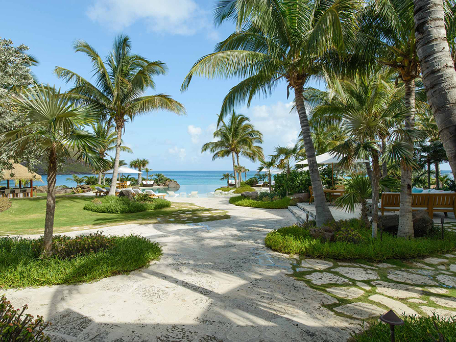 Caribbean scene, by raymond jungles