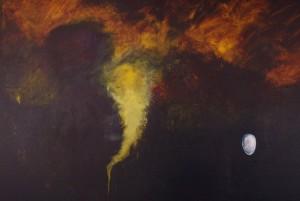 Halo, abstract piece, lsu art alumni work