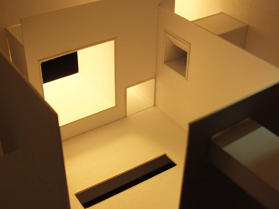 light model closeup, lsu architecture student work