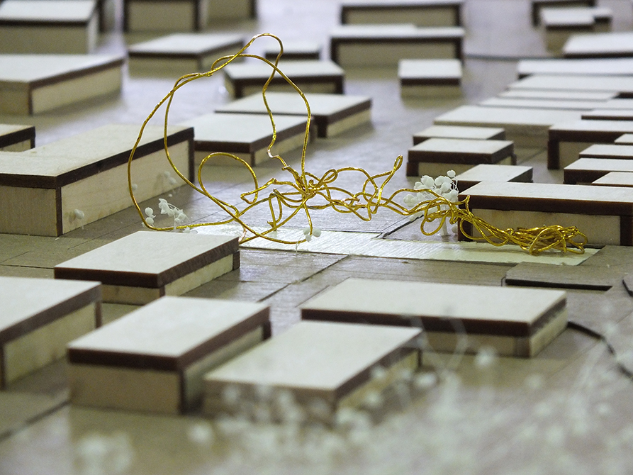 density concept model, lsu architecture student work