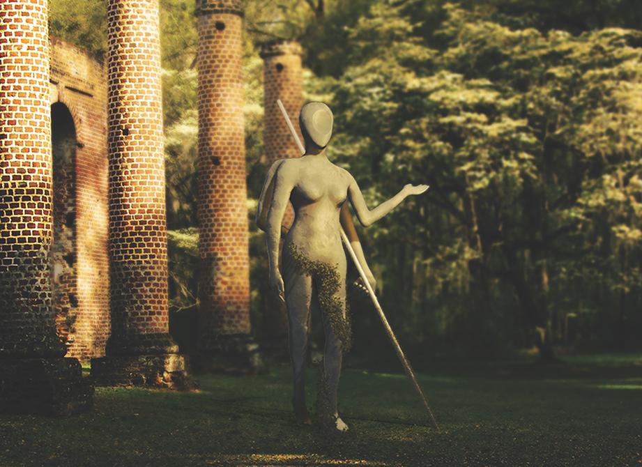statue design, lsu digital art student work