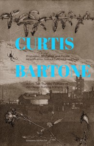 Poster advertising lecture by Curtis Bartone