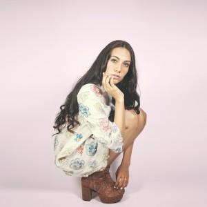 Time Warp fashion shoot featuring Hannah Chenevert (model); photograph by Malarie Zaunbrecher