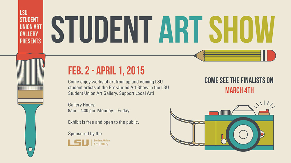Graphic advertising 2015 Student Art Show