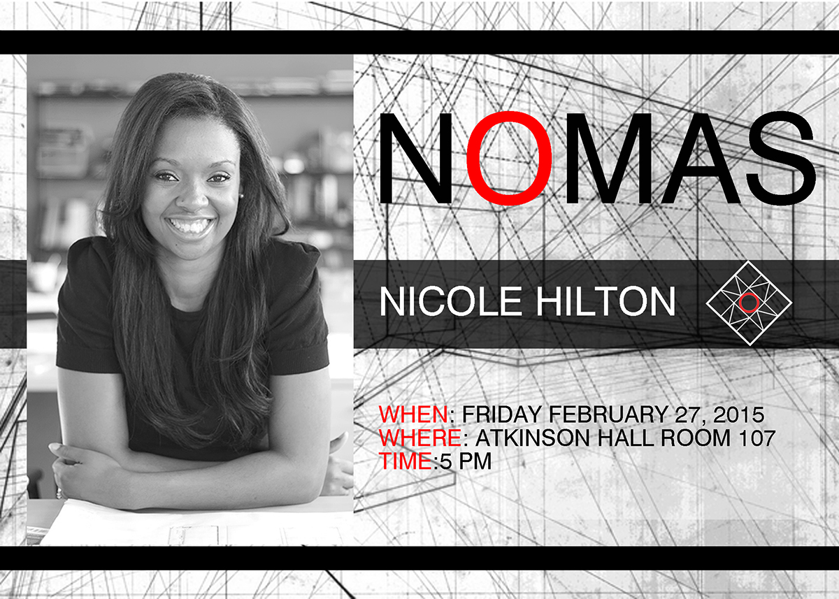 Graphic advertising NOMAS lecture by Nicole Hilton
