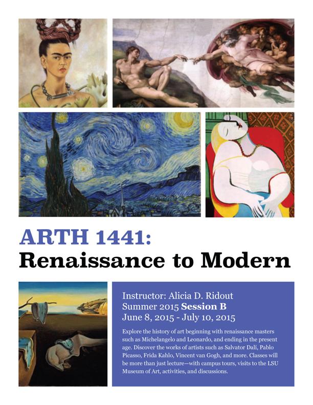 ARTH 1441 Historical Survey of the Arts: Renaissance to Modern