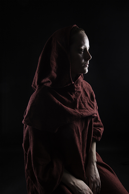 girl with red cape, by Troy Otts in ART 4992 Concepts in Advanced Digital Photography