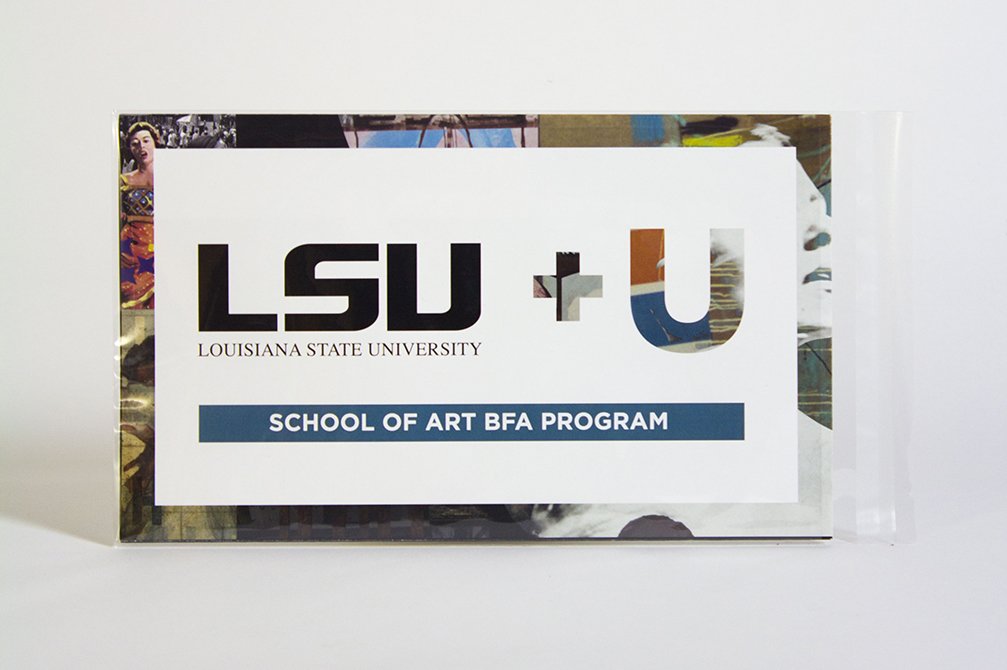 "book with text ""LSU + U"""
